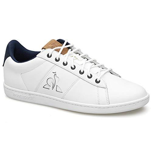 Le Coq Sportif Herren Master Court Waxy Leichtathletik-Schuh, Optical White/Dark Navy, 45 EU