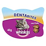 Whiskas Dentabites Snacks para La Higiene Oral de Gatos(Pack de 8 x 40g)