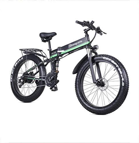 FMOGE Trasporto della Batteria al Litio della Mountain Bike Ciclomotore Ciclomotore Elettrico Pieghevole da 26 Pollici 4.0 Pneu