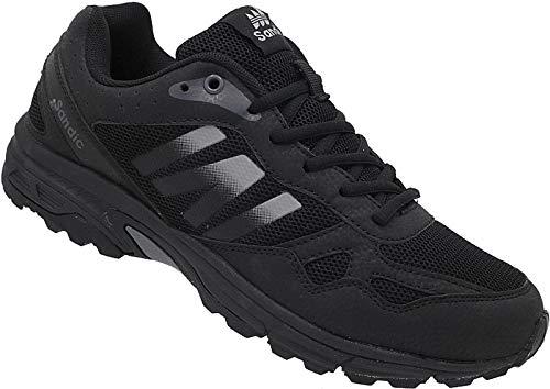 Herren Sportschuhe Sneaker Turnschuhe Laufschuhe Schuhe Runners Nr. 2034 (schwarz-grau, Numeric_42)