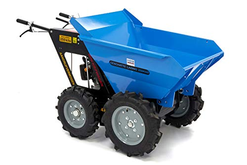 6,5PS Allradantrieb Benzin Muldenkipper Mini-Dumper Motor-Schubkarre Dumper Radlader 250 kg Traglast