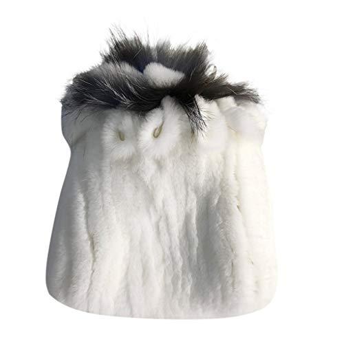 Vobery Gorro de invierno para mujer, elegante, cálido, multicolor, cálido, gorras femeninas (L)