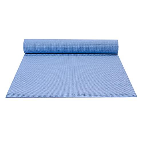 BBVS - Colchoneta de yoga antideslizante de PVC, colchoneta de ejercicio, colchoneta de gimnasio de TPE ecológica, ideal para HiiT, pilates, yoga y otros entrenamientos de fitness en casa 183 * 61 * 0