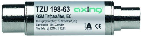 Axing TZU 198-63 - Filtro de paso bajo para DVB-T (5-862 MHz