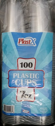 7 oz. Disposable Clear Plastic Cups - 100 Count