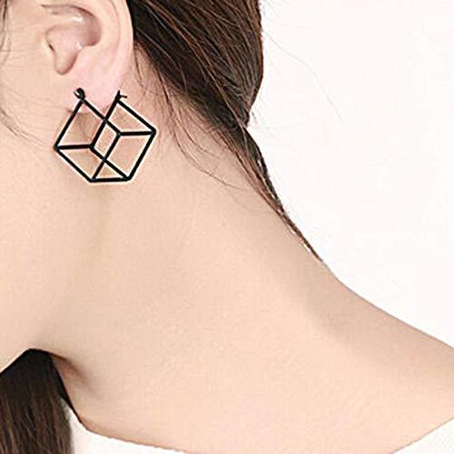 DFDLNL Conjuntos de aretes para Mujer Aros Artsy Gold Tone Face Stud Pendientes para Mujeres Pendientes Elegantes BijouxSilver