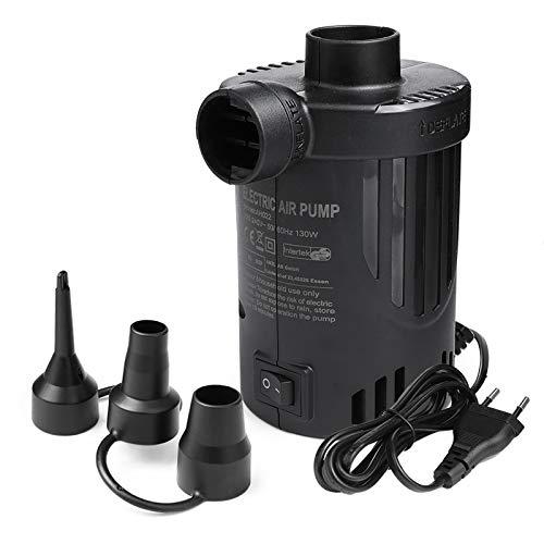Elektrische Luftpumpe Deeplee Pumpe Luftmatratze Luftpumpe, 2 in 1 Inflate Deflate Elektrische Pump mit 3 Luftdüse für aufblasbare Matratze,Kissen,Boot,Schwimmring,Luftmatratze Pool[2020 aktualisiert]