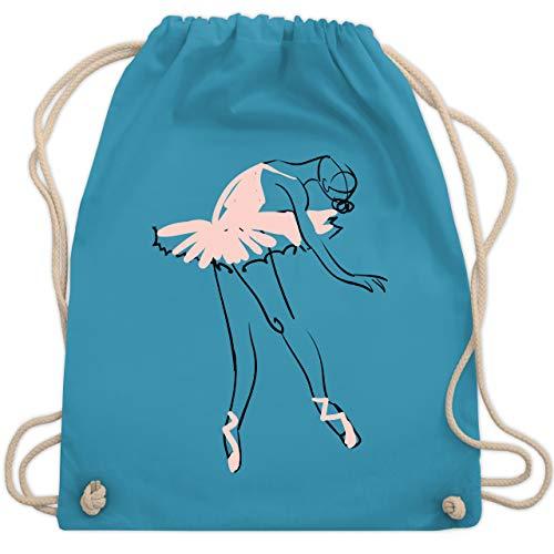 Shirtracer Tanzsport - Balletttänzerin Ballerina - Unisize - Hellblau - turnbeutel ballerina - WM110 - Turnbeutel und Stoffbeutel aus Baumwolle