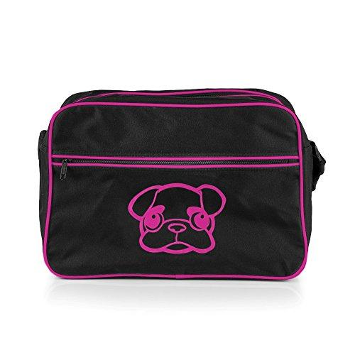 MOPS ME Retro Bag, handtas, tas, damestas, zwart/roze