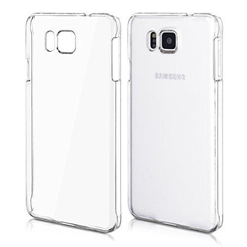kwmobile Funda Compatible con Samsung Galaxy Alpha - Carcasa para móvil - Protector Trasero en Transparente