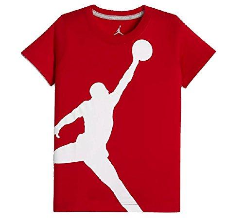 Nike Air Jordan Boys Jumpman 23 Dri-Fit T-Shirt (Medium, Gym Red)