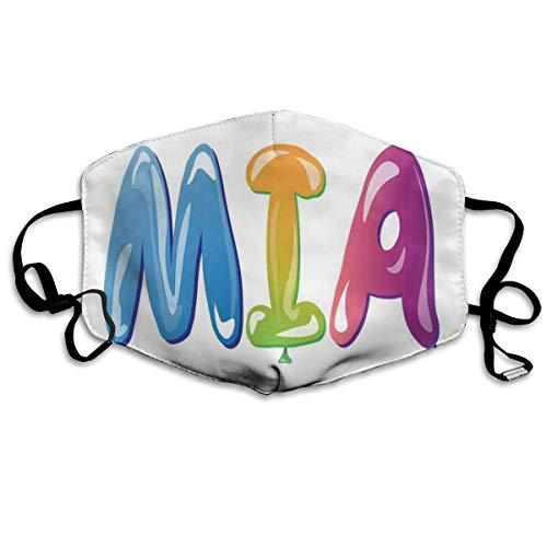 Vrouwelijke Naam Ontwerp Met Oude Oorsprong Kleurrijke Feestelijke Ballon Letters Patroonafdrukken Veiligheid Mond Cover voor Volwassen