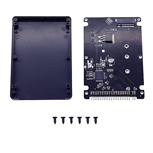 GINTOOYUN M.2 NGFF SATA SSD a scheda convertitore IDE da 2,5'a 44 pin con guscio, nero per notebook, computer desktop e altro