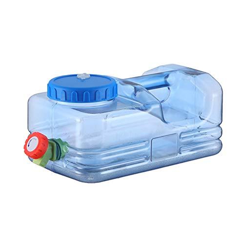 QINGCHU Bidón de agua de 5,5/10 litros en color natural con grifo para verter, grifo de drenaje, tapa de rosca, bidón de agua potable portátil, sin BPA, camping, coche