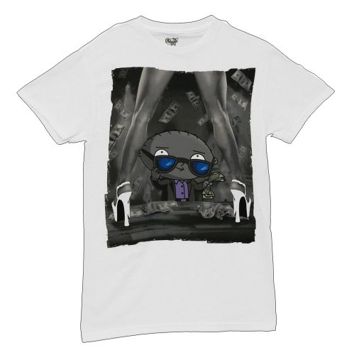 Family Guy Stewie Dollars Men's T-Shirt, White, X-Large