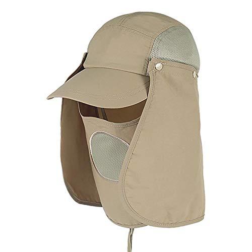 19821 RUIRUI Sombrero al Aire Libre 360 Protector Solar Transpirable y Secado rápido Ajustable Pesca de Pesca Lengua Protectora de béisbol Hombres y Mujeres (Color : A)