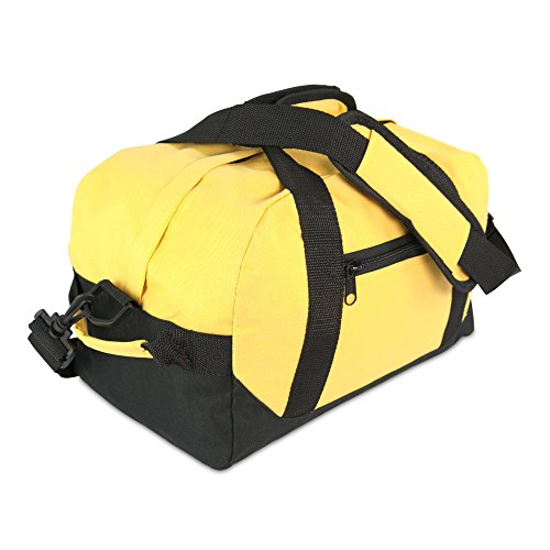 DALIX 14' Small Duffle Bag Two Toned Gym Travel Bag (Gold)