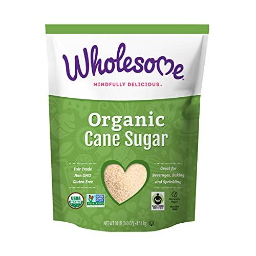 Wholesome Organic Cane Sugar, Fair Trade, Non GMO & Gluten Free, 10 Pound (Pack of 1)