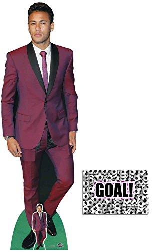 BundleZ-4-FanZ Neymar Fußballer Lebensgrosse und klein Pappfiguren/Stehplatzinhaber/Aufsteller - Enthält 8X10 (25X20Cm) starfoto