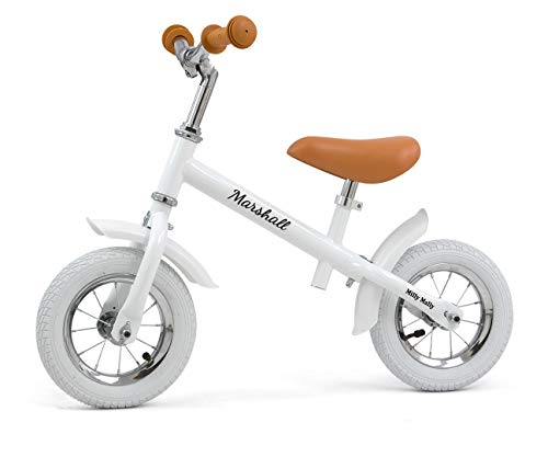 MILLY MALLY Marshall Air - Bicicleta sin pedales para niños, color blanco