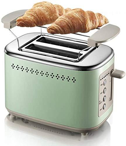 Mopoq Acero inoxidable ajustable climatizada rápida Grill multifunción desayuno Tostadora, ranura for tarjeta extendida, ranura de diseño for el hogar y la cocina