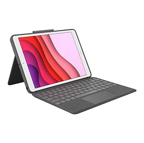 Logitech Combo Touch - Clavier et étui - avec trackpad - rétroéclairé - Apple Smart connector - AZERTY - Français - graphite - pour Apple 10.5-inch iPad Air (3ème génération), 10.5-inch iPad Pro