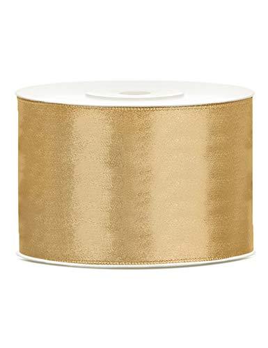 Generique - Dekoration goldenes Satinband 25m
