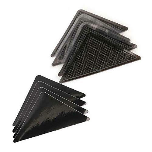 FzJs-J-in 4 wasserdichte rutschfeste Teppich-Aufkleber, selbstklebend, dreieckig, wiederverwendbar, rutschfest, Teppichmatte, Greifer