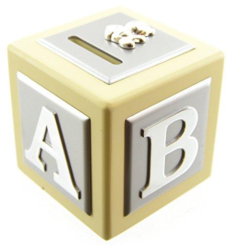 Bouton d'angle en bois Crème Argent Boîte plaqué argent Teddy Bear