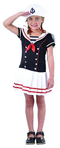 Costume da marinaio per bambina 4/6 anni (104/116)