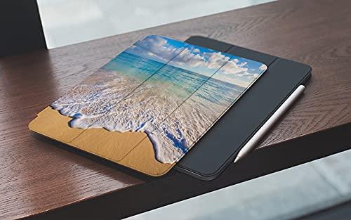 MEMETARO Funda para iPad (9,7 Pulgadas 2018/2017 Modelo), Hermoso Paisaje Marino Desde Hawai Smart Leather Stand Cover with Auto Wake/Sleep