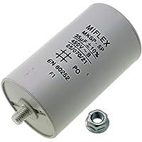 Condensador de Arranque de Motor 35 µF, 450V 50x 83mm, Conector M8, Miflex, 35 uF.