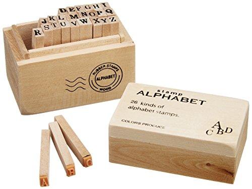 丸和貿易 ウッドボックス スタンプ アルファベット イニシャル 英語 スタンプ はんこ 木製 ハンドメイド 大文字 S 100325201