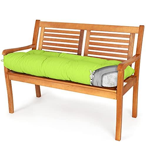 Spatium Cojines para Bancos Funda desenfundable, Impermeable 30 tamaños para Elegir de 7 Colores(140 x 40 x 10cm Manzana Verde)