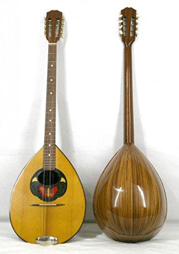 Musikalia Liuteria Griechische Bouzouki in Zebrano, eingelegten Sound Board, Concert Modell, Vintage Linkshänder Version mit Hard Case in geformte Acrylnitril Butadien Styrol.