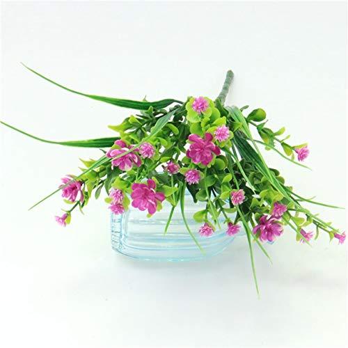 YSQSPWS Kunstblumen 1pcs kleines Bündel Simulation Gladiolen Gypsophila Kunststoff gefälschte Blume im Freien Zaun Bonsai Gras Hauptdekor Blumenarrangement lebensecht (Color : 03)