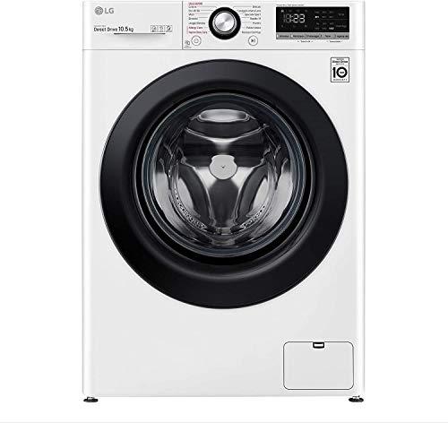 LG F4WV310S6E Lavatrice a Carica Frontale 10,5 Kg, Libera Installazione, 1400 Giri/min, Classe A+++ -40%, Intelligenza Artificiale, Funzione Vapore, 60 x 56 x 85 cm - Bianco