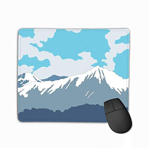 Customized Rectangle Mousepad, schattige Gaming Mouse Pad Mat 11.81 X 9.84 inch Mooie Landscape Blue Mountains Sky Forest Mooi Landscape Blue Mountains Sky Forest Pretty