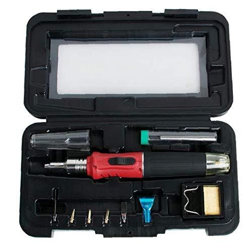 Canjerusof Kit del Soldador del Soldador del Gas Set 10 en 1 Kit de Soldadura automática de Encendido portátil de la Pluma en Forma de Red