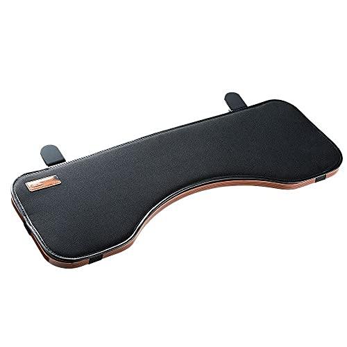 fuzadel Tisch Mount Armlehne Regal Ständer Ellenbogen Support-Tablett zu Tilt N Fold Down für Computer Arbeit, ergonomische Tastatur-Handgelenkauflage Schreibtisch Extender