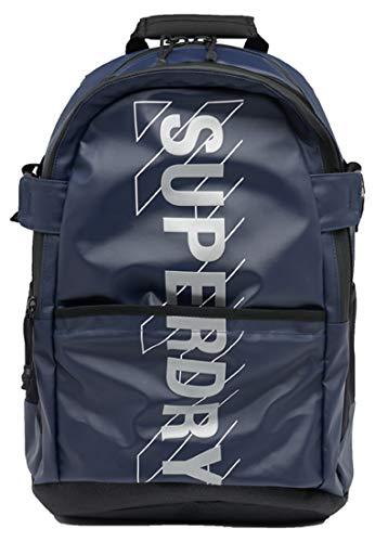 Superdry Sport Code TARP Backpack, Mochila para Hombre, azul marino, Einheitsgröße
