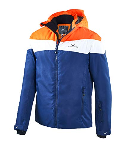 Black Crevice Veste de ski Crevice pour homme. L Orange/blanc/bleu marine.