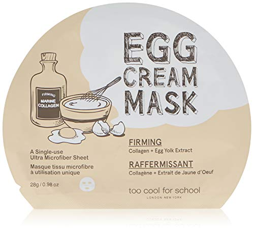 Too Cool for School Egg Cream Mask, Firming, 1 Sheet, 0.98 oz