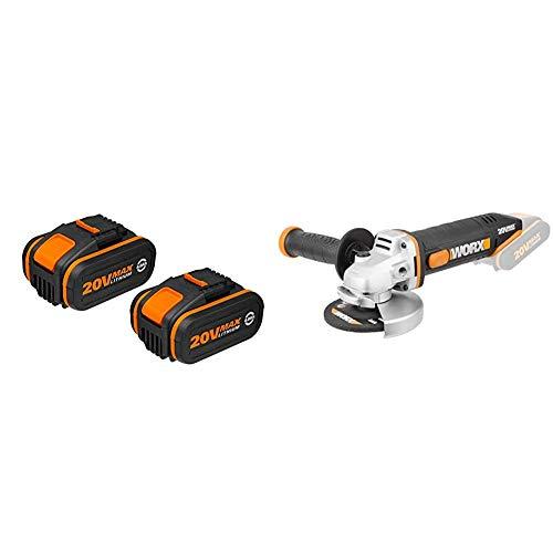 Worx WA3553.2 Baterías, 80 W, 20 V, Negro, Set de 2 Piezas...