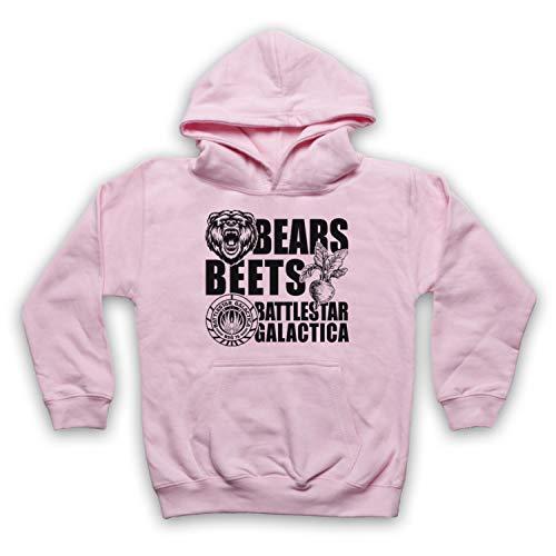 Inspired Apparel Inspirado por Office US Bears Beets Battlestar Galactica No Oficial Niños Sudadera con Capucha