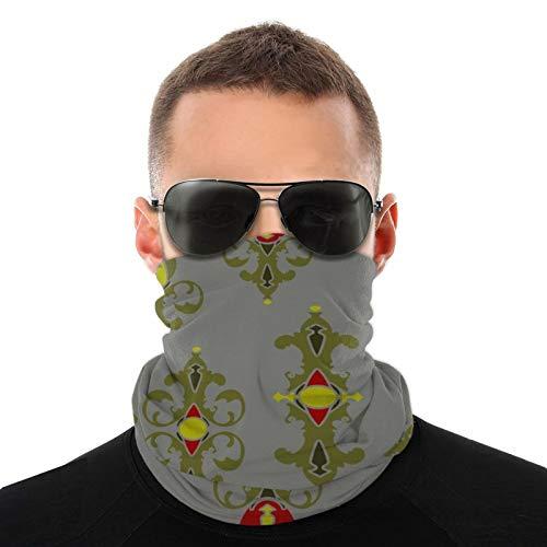 Diseño de papel tapiz con adornos reales abstractos Bufanda cálida para hombres adultos y mujeres Pasamontañas para hombres livianos 10x20 Pulgadas