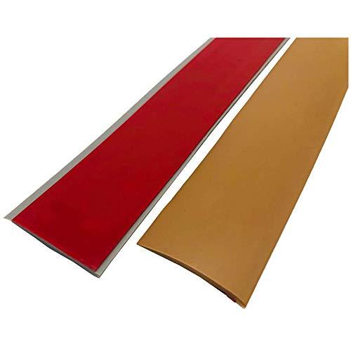 Übergangs profil für Laminat&Parket-Boden Leiste-Selbstklebend Vinyl Flach Übergangs Schiene-Ausgleichsprofil-Fußböden-Bodenbelag-Streifen-200X5 CM-Türschwelle Abdeckleiste-Bodenprofil-Schutzleiste