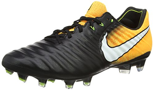 Nike Tiempo Legend VII Fg, Scarpe da Calcio Uomo, Nero (Black/White-Laser Orange-Volt-Black), 42 EU