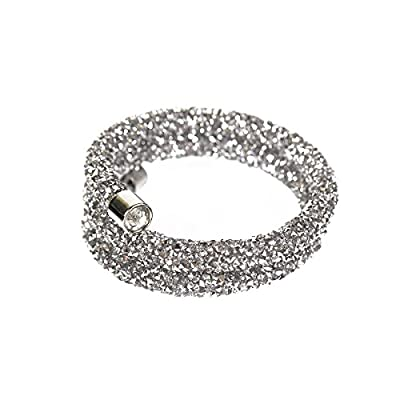 Piper & Grace Multi Crystal Rhinestones Wrap Bangle Fashion Bracelet