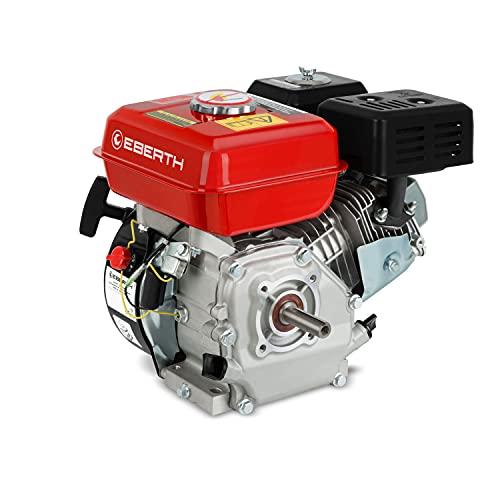 EBERTH GG1-ER196-6.5 Moteur à essence thermique (6,5 CV, 19,05 mm Arbre, Alarme manque d'huile, 4 Temps, 1 Cylindre, Refroidissement à air, Démarrage via câble)